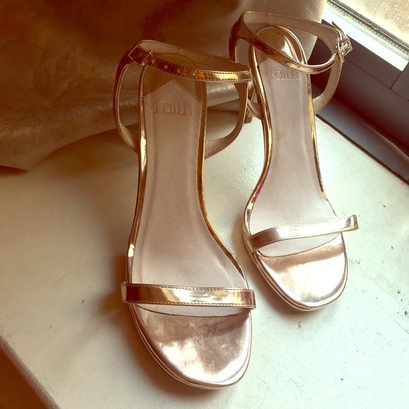 ASOS Shoes | Rose Gold Heeled Sandals